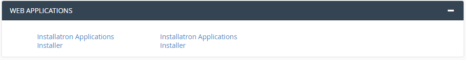 CPanel Web Applications